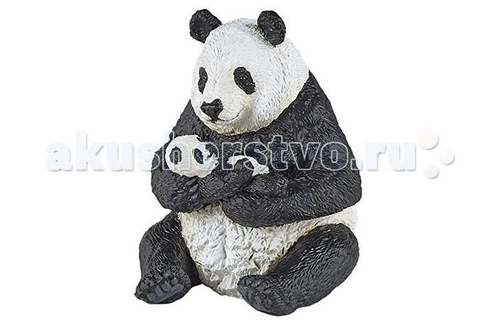 Игровые фигурки Papo Фигурка Сидящая панда с детенышем