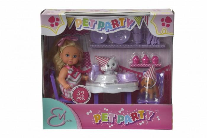 Куклы и одежда для кукол Simba Кукла Еви с набором День рождение питомцев 12 см