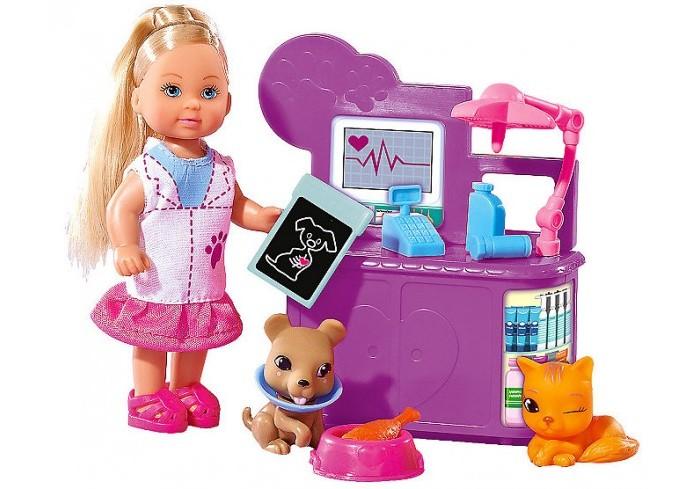Куклы и одежда для кукол Simba Набор Кукла Еви-ветеринар 12 см куклы и одежда для кукол simba кукла еви со стильной собачкой 12 cм