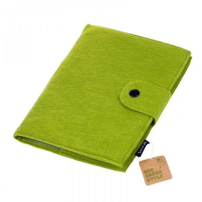 Канцелярия Lejoys Бизнес-блокнот Felt зеленый, на спирали А5 (120 листов) канцелярия lejoys блокнот sustainable на спирали а6 100 листов