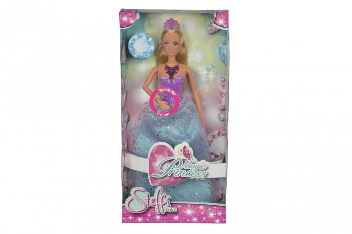 Simba Кукла Штеффи магическая принцесса 29 смКукла Штеффи магическая принцесса 29 смSimba Кукла Штеффи магическая принцесса 29 см понравится каждой маленькой девочке, мечтающей подружиться с настоящей принцессой из сказки.   Игрушка хорошо подходит для сюжетно-ролевых игр.   Ожерелье куклы снабжено подсветкой, что делает ее образ еще более загадочным и волшебным.<br>
