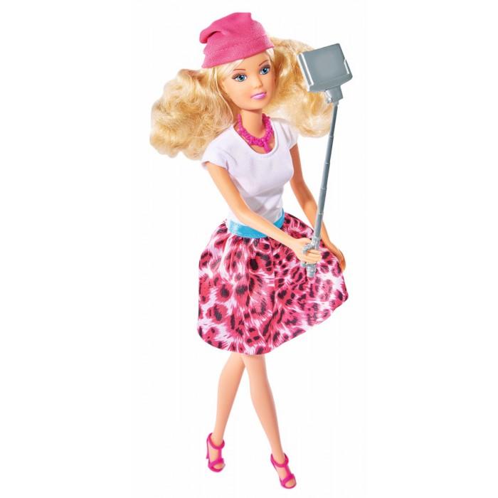 Куклы и одежда для кукол Simba Кукла Штеффи с селфи палкой 29 см