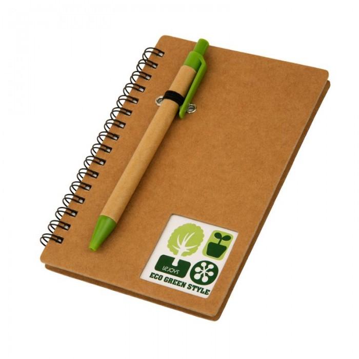 Канцелярия Lejoys Блокнот Tree на спирали с крафт-обложкой и ручкой А5 (80 листов) канцелярия lejoys блокнот sustainable на спирали а6 100 листов