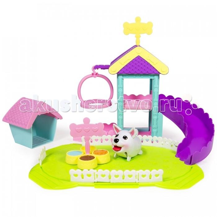 Spin Master Игровой набор Chubby Puppies Парк развлеченийИгровой набор Chubby Puppies Парк развлеченийSpin Master Игровой набор Chubby Puppies Парк развлечений представляет собой мини-комплекс для собаки.  Особенности: В наборе представлена функциональная фигурка собаки французского бульдога, которая работает на батарейках и очень забавно движется.  В парке есть миски с кормом и питьем, качелька и горка с будкой. Игрушечный питомец может вовсю резвиться и веселиться, тем самым делать игру девочки по-настоящему интересной, реалистичной и развлекательной.  Игрушки данного набора изготовлены в превосходном качестве исполнения.  Также набор богат четкой детализацией и привлекателен яркими цветами.  Такой набор приведет в восторг любую девочку, поэтому он может послужить прекрасным подарком для нее.  В комплекте: 1 фигурка щенка французского бульдога, миска с едой и питьем, будка, игровая площадка с качелькой и горкой, аксессуары. Размер фигурки: 7 см.<br>