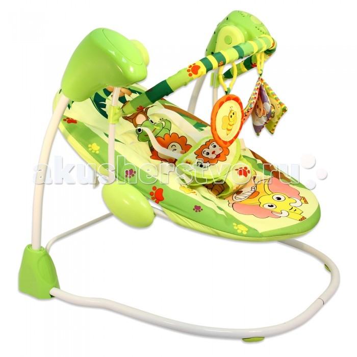 MAPA baby Кресло-качалка ДжунглиКресло-качалка ДжунглиКресло-качели «Джунгли» с музыкальными эффектами для малышей от рождения — замечательный помощник мамам и релаксирующее приспособление для малышей.   Это многофункциональное устройство идеально подходит для активного бодрствования и развивающих игр, а также спокойного отдыха и дневного сна. Спокойная мелодичная музыка, звуковые эффекты, мягкие покачивания помогут успокоить малыша или уложить его спать.  Для малышей с рождения Пять скоростей качения Фиксированное время работы - 3,15,30 минут 2 игрушки 16 мелодий Регулировка громкости 5 точек крепления ремня безопасности Адаптер в комплекте  Размер: 68х62х61 см.<br>