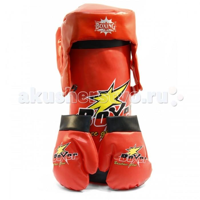 Спортивный инвентарь Veld CO Набор для бокса детский Boxer со шлемом спортивный инвентарь veld co набор воланчиков 6 шт