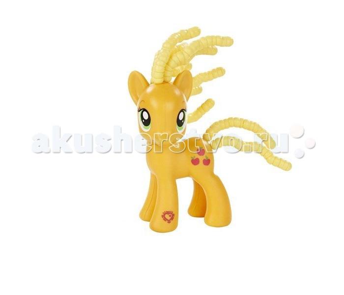 Игровые наборы Май Литл Пони (My Little Pony) ЭпплДжек с прическами игровые наборы tomy игровой набор приключения трактора джонни и лошади на ферме