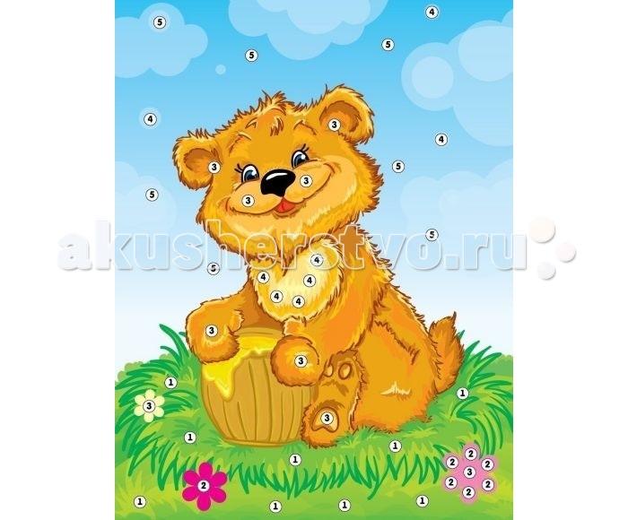 Мозаика Color Puppy Набор для творчества. Аппликация Мишка - сладкоежка 635155 набор для творчества тм vladi раскраски глиттером сова