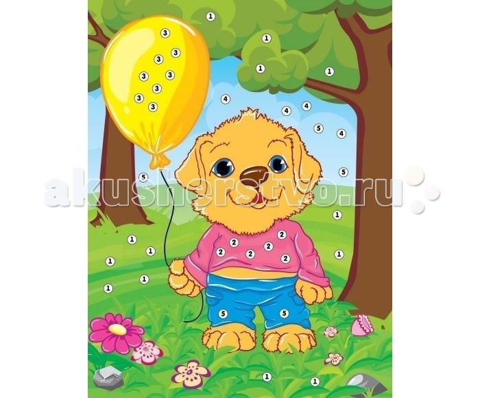 Мозаика Color Puppy Набор для творчества Аппликация Собачка на прогулке 635156 набор для детского творчества набор веселая кондитерская 1 кг