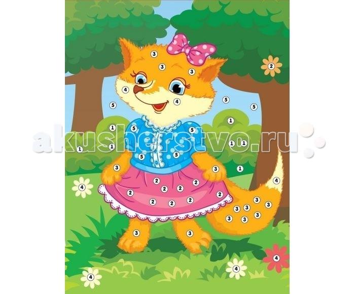 Мозаика Color Puppy Набор для творчества Аппликация Лисичка-сестричка 635157 набор для творчества color puppy сверкающая аппликация попугай