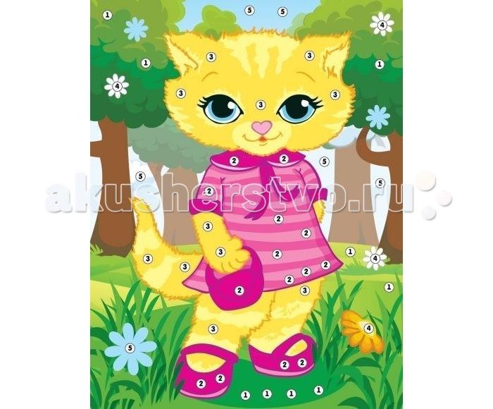 Мозаика Color Puppy Набор для творчества Аппликация Кошечка - модница 635158 наборы для поделок color puppy набор для творч дерево украшений фантазия