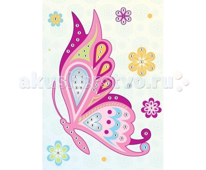 Мозаика Color Puppy Набор для творчества Аппликация Бабочка 635160 color puppy набор для творчества алмазная мозаика мишка