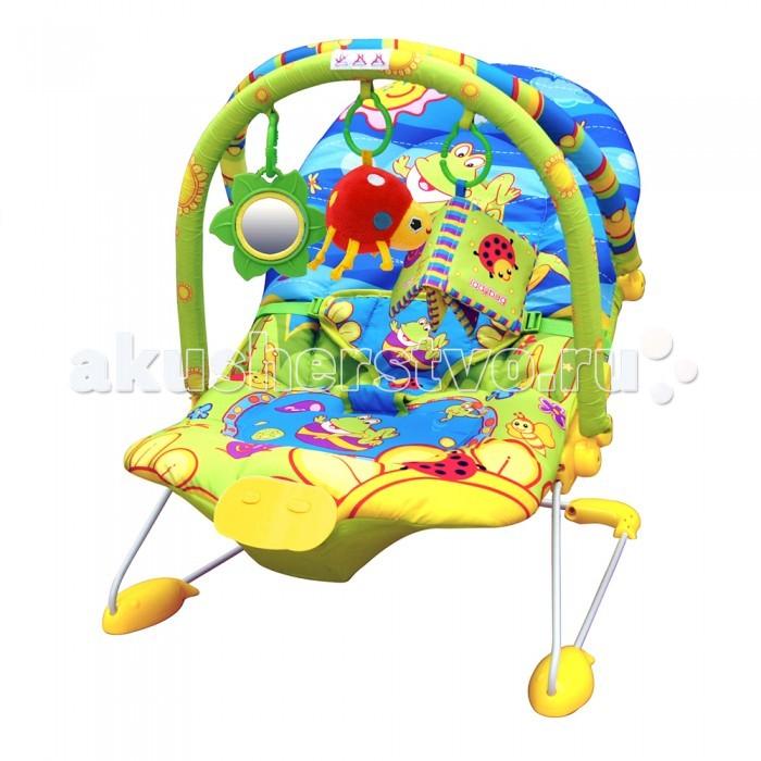 Детская мебель , Кресла-качалки, шезлонги La-di-da Шезлонг Счастливый лягушонок (2 дуги) арт: 209427 -  Кресла-качалки, шезлонги