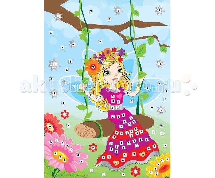 Мозаика Color Puppy Набор для творчества Аппликация Лесная фея 635165 набор для творчества тм vladi раскраски глиттером сова