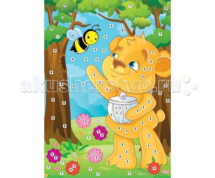 Мозаика Color Puppy Набор для творчества Аппликация Пчёлкин мед 635168 мозаика color puppy набор для творчества аппликация кошечка садовник 635166