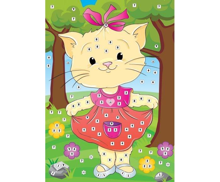 Мозаика Color Puppy Набор для творчества Аппликация Кошка Муся 635169 набор для творчества тм vladi раскраски глиттером сова