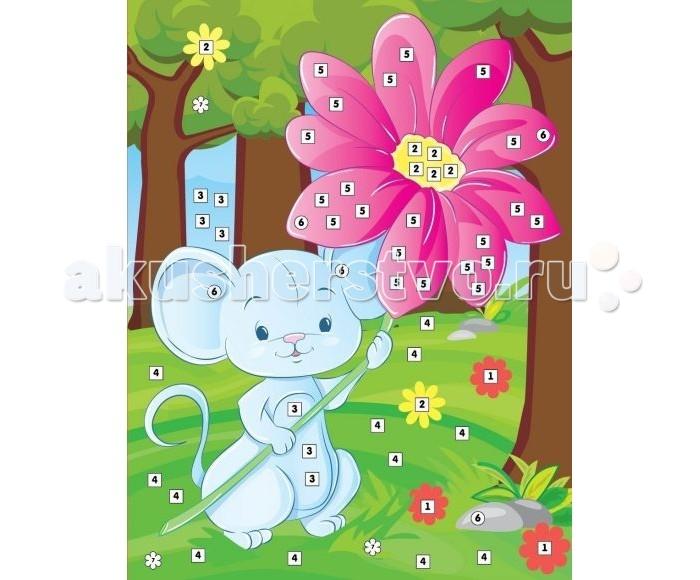 Мозаика Color Puppy Набор для творчества Аппликация Мышонок с цветком 635170 набор для творчества фантазер скульптор мышонок