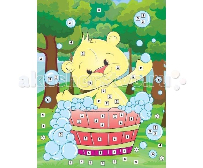 Мозаика Color Puppy Набор для творчества Аппликация Мишкино купание 635172 color puppy набор для творчества алмазная мозаика мишка