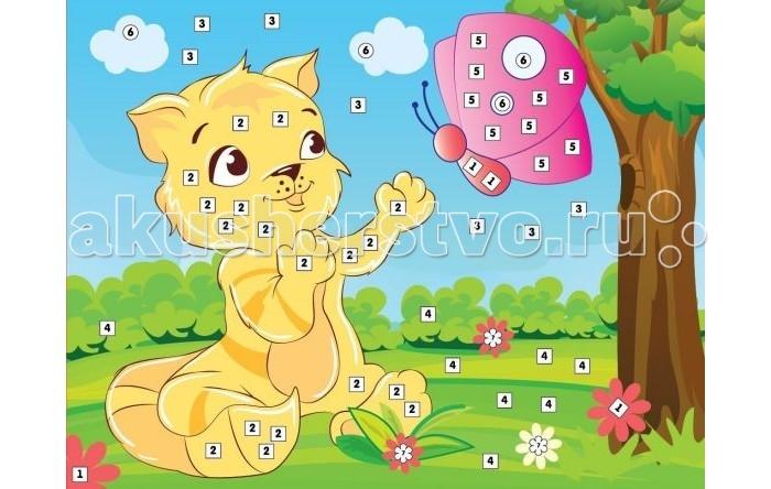 Мозаика Color Puppy Набор для творчества Аппликация Кот и бабочка 635174 набор для детского творчества набор веселая кондитерская 1 кг