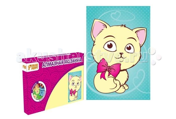 Наборы для творчества Color Puppy Набор для творчества Алмазная мозаика Котенок 95281 набор для творчества color puppy сверкающая аппликация попугай
