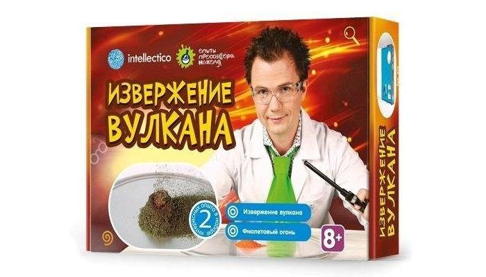 Наборы для опытов и экспериментов Intellectico Набор для опытов с профессором Николя Извержение вулкана набор для опытов научные развлечения азбука парфюмерии