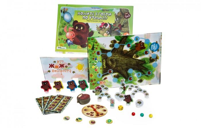 Настольные игры Step Puzzle Настольная игра Ходите в гости по утрам 3 в 1 игры для малышей step puzzle настольная игра кубик пазл медвежонок винни пух