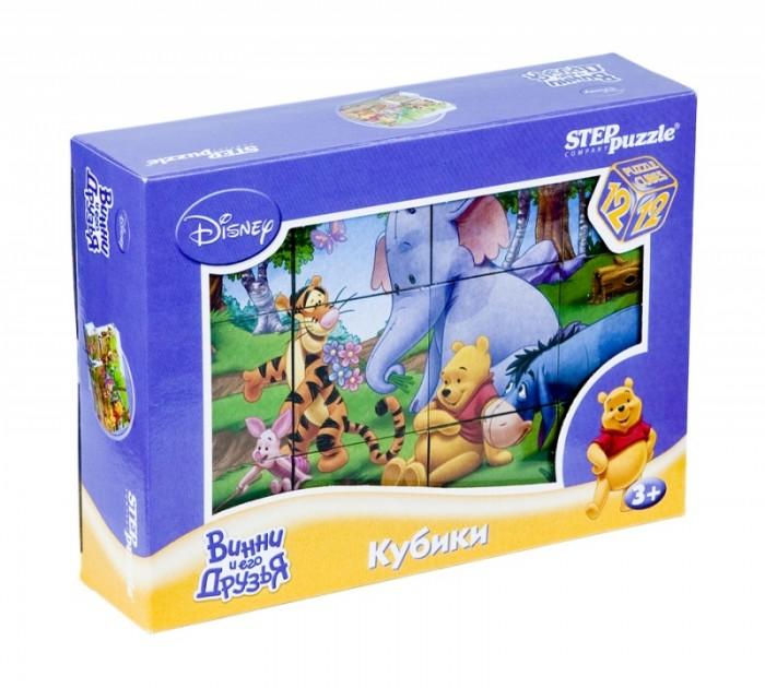 Развивающие игрушки Step Puzzle Набор кубиков Винни Пух 12 шт.