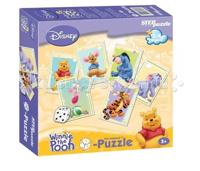 Игры для малышей Step Puzzle Настольная игра Кубик-пазл Медвежонок Винни-Пух