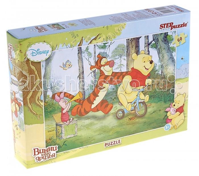 Пазлы Step Puzzle Пазл Винни и его друзья 60 элементов пазл 3d 60 элементов step puzzle disney винни пух 98108