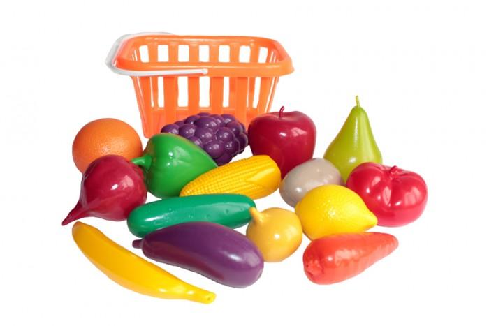 Ролевые игры Совтехстром Набор Фрукты и овощи в корзине игнатова а овощи и фрукты