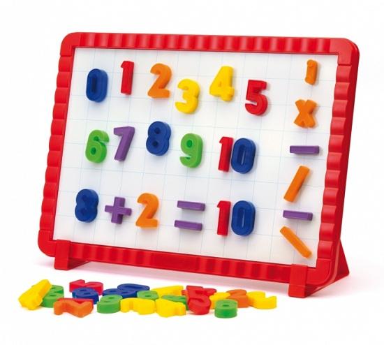 Развитие и школа , Доски и мольберты Quercetti Математическая магнитная доска (48 элементов) арт: 21001 -  Доски и мольберты