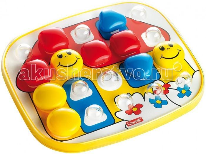 Quercetti Мозаика в чемоданчике Беби Бейсик (20 элементов)Мозаика в чемоданчике Беби Бейсик (20 элементов)Мозаика для малышей в чемоданчике Quercetti Беби Бейсик яркая красочная с крупными пуговицами, которые ребенку удобно взять в руку. Развивает творческие способности у детей, внимание и усидчивость.   В набор входит:  4 круглых пуговицы   8 квадратных пуговиц   8 треугольных пуговиц   1 основа из прозрачного пластика  1 основа для карточек   6 карточек с картинками<br>