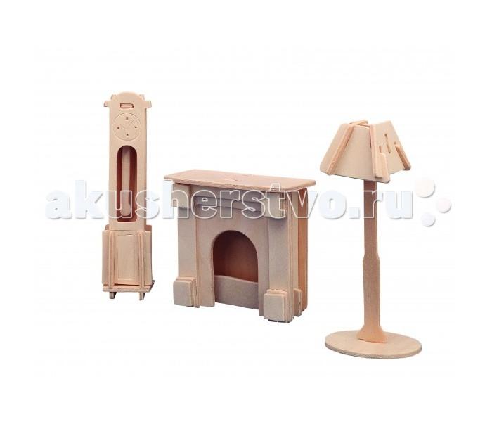 Конструкторы Мир деревянных игрушек (МДИ) Часы лампа и камин