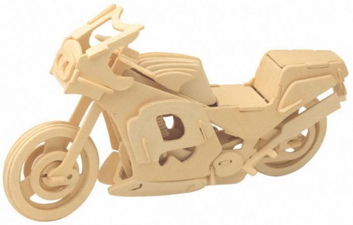 Мир деревянных игрушек (МДИ) Гоночный мотоцикл коляска люлька для кукол синий белый принтт57326