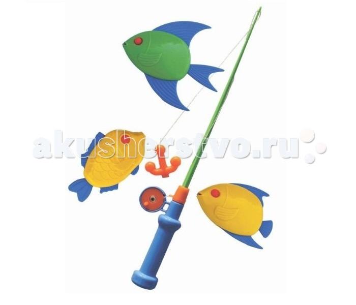 Игрушки для ванны Совтехстром Набор Моя первая рыбалка игрушки для ванны tolo toys набор ведерок квадратные