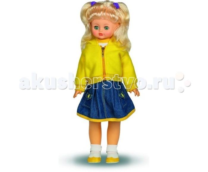 Весна Кукла Алиса 7 озвученная 55 смКукла Алиса 7 озвученная 55 смКукла Алиса одета в водолазку с коротким рукавом, джинсовый сарафан с карманами, куртку из флиса с капюшоном, носки и сапожки. Если нажать на животик, то кукла заговорит:  -Теперь ты моя подруга. -Ты не забыла - сегодня мы идем на праздник. -Нам нужно быть красивыми. -Сделай мне прическу! -Получилось очень красиво! -Теперь себе. -Не забудь про маникюр. -А нарядное платье? -Мы сегодня самые красивые!   Глаза вставные закрывающиеся. Тело куклы пропорционально. Ручки и голова выполнены из эластичного, приятного на ощупь винила, а туловище и ноги из пластмассы.<br>
