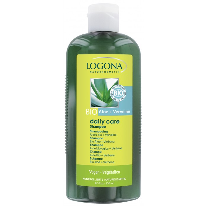 Косметика для мамы Logona Daily Care Шампунь с Био-Алоэ и Вербеной 250 мл logona daily care body lotion organic aloe verbena объем 200 мл