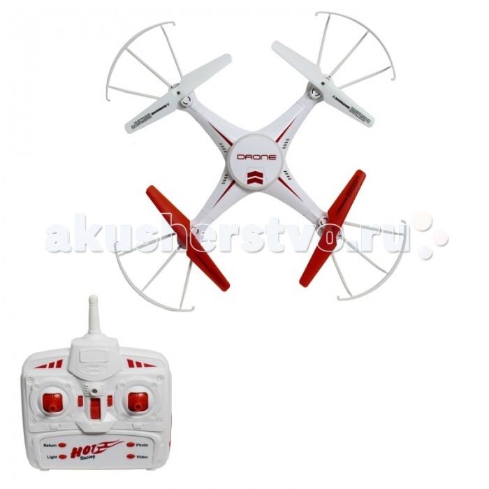 1 Toy Квадрокоптер Gyro DroneКвадрокоптер Gyro Drone1 Toy Квадрокоптер Gyro Drone  Большой квадрокоптер Gyro Drone размером 30 см прекрасно подходит для полётов на улице  Модель обладает 6-осевым гироскопом, а вместе с режимом  Headless Mode управление становится более предсказуемым При помощи этого режима, который активируется в полете, квадрокоптер всегда будет следовать в том же направлении, что и джойстик пульта управления  Функция Автоматического возвращения помогает вернуть квадрокоптер к старту. Большая светящаяся круглая платформа на квадрокоптере сделает его заметным даже в темное время суток. Визуальный тримминг (отладка вращения) позволяет быстро и удобно отрегулировать управление моделью: после завершения процедуры настройки, квадрокоптер помигает диодами Квадрокоптер имеет 2 скоростных режима.  Габариты - 30 см Частота управления - 2.4GHz Количество скоростей - 2 Возраст: от 5 лет<br>