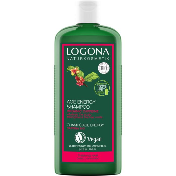 Косметика для мамы Logona Шампунь для укрепления волос с Био-Кофеином 250 мл косметика для мамы logona сыворотка для интенсивного воcстановления блеска волос с био аргановым маслом 75 мл