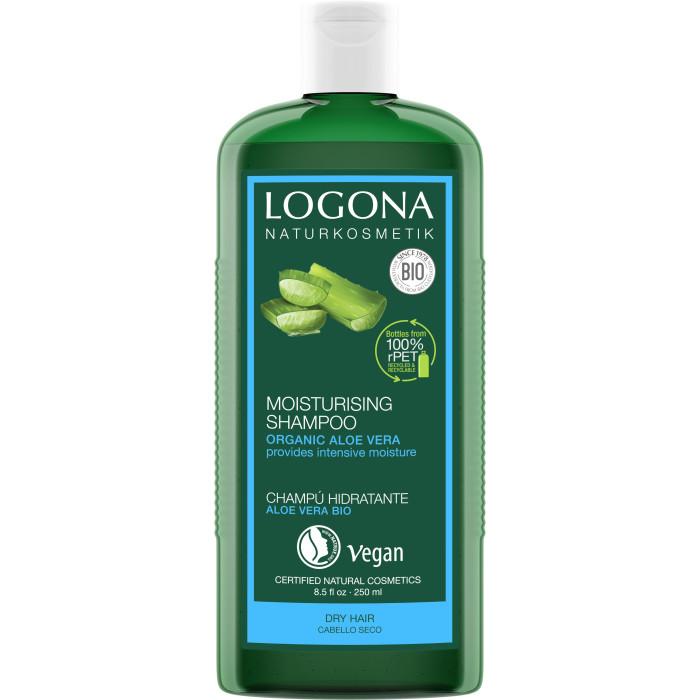Косметика для мамы Logona Шампунь для увлажнения волос  с Био-Алоэ Вера 250 мл