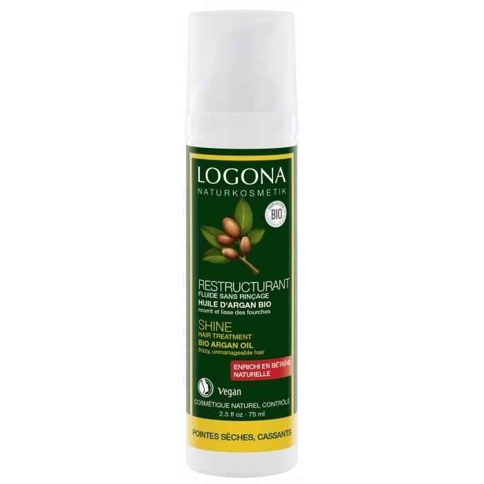 Косметика для мамы Logona Сыворотка  для интенсивного воcстановления блеска волос с БИО-Аргановым маслом 75 мл logona восстанавливающее масло для волос 75 мл