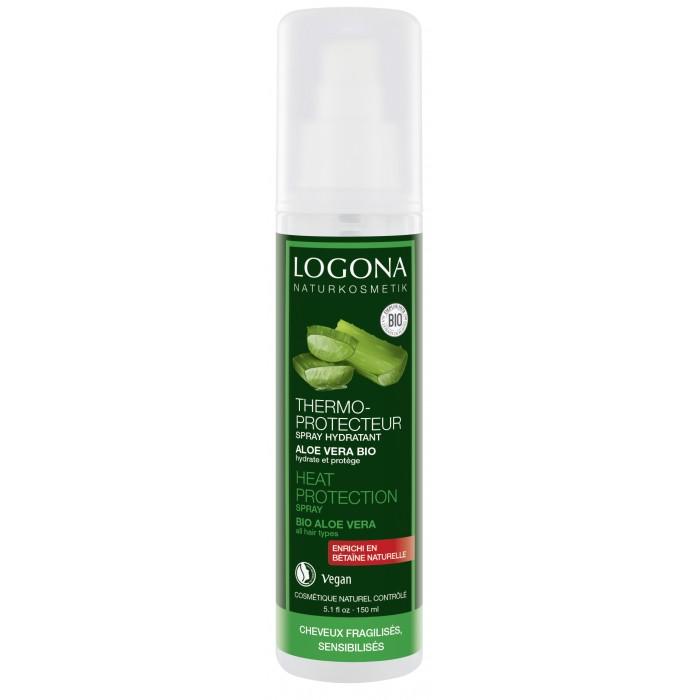 Косметика для мамы Logona Натуральный спрей-термозащита для волос с Био-Алоэ Вера 150 мл