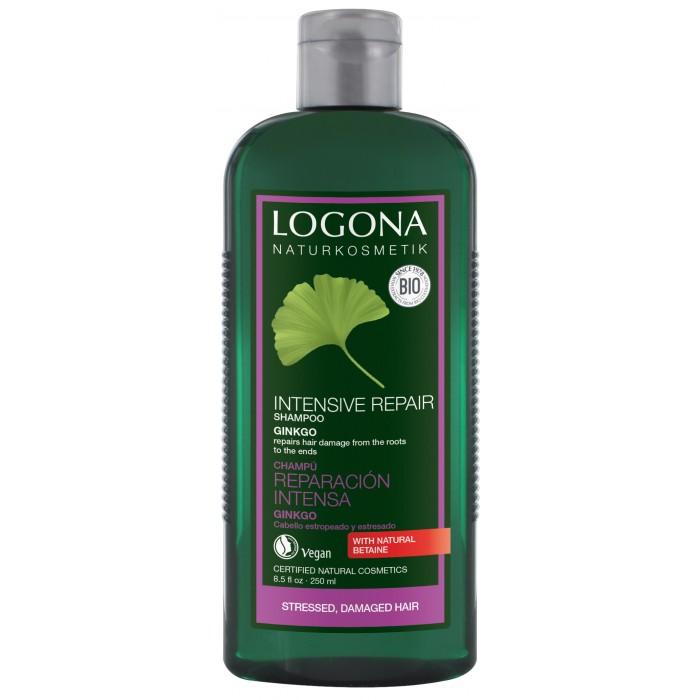 Косметика для мамы Logona Шампунь для интенсивного востановления волос с Экстрактом Гинкго 250 мл косметика для мамы logona восстанавливающий крем для волос с маслом жожоба 150 мл