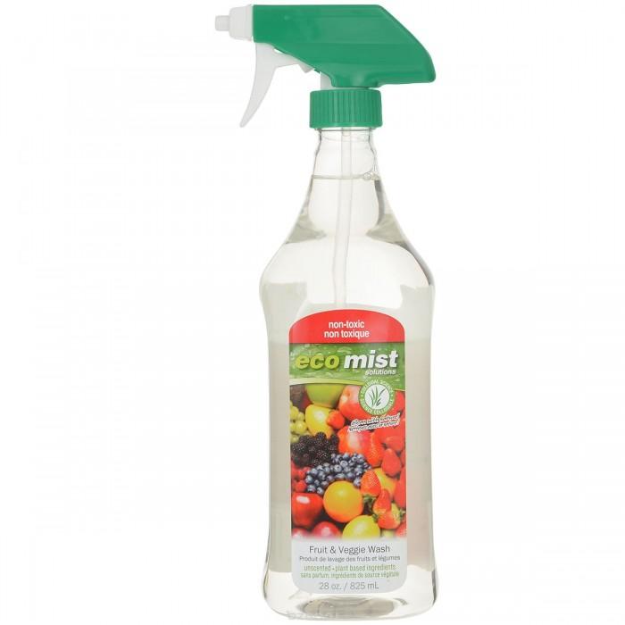Бытовая химия Eco Mist Средство для мытья фруктов и овощей Fruit & Veggie Wash 825 мл средство для мытья стекол eco mist 825 мл
