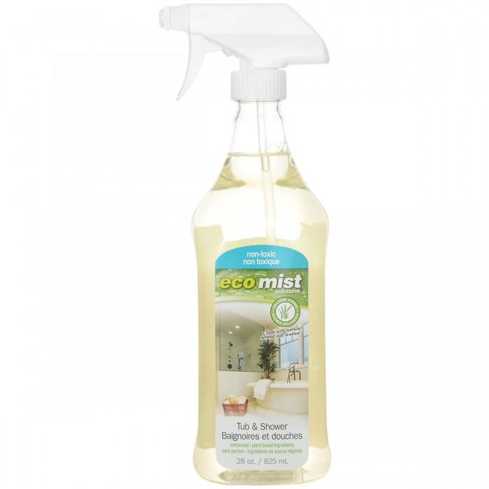 Бытовая химия Eco Mist Средство для чистки ванн и душевых кабин Tub & Shower 825 мл  eco mist средство для чистки мебели и уборки в кабинете cabinet