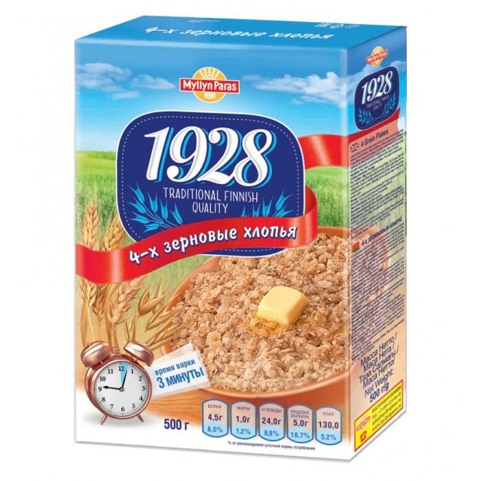 Каши Myllyn Paras Безмолочная каша 4 злака хлопья 500 г с 12 мес. русский завтрак хлопья 4 злака крупные 400 г