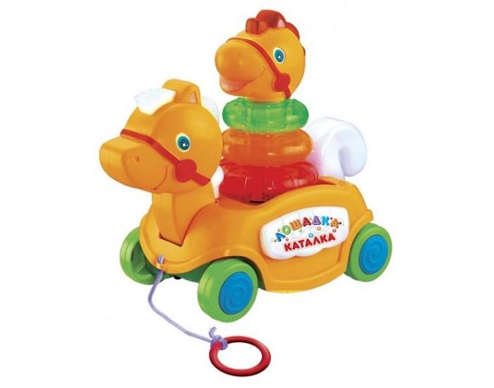 Каталки-игрушки Умка Лошадка B876678-R каталка игрушка умка лошадка b876678 r со звуковыми эффектами желтый