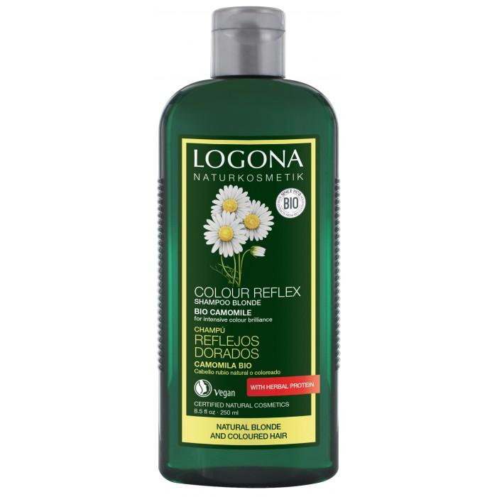 Косметика для мамы Logona Color Reflex Шампунь для светлых волос с Ромашкой 250 мл logona color care шампунь с хной 250 мл