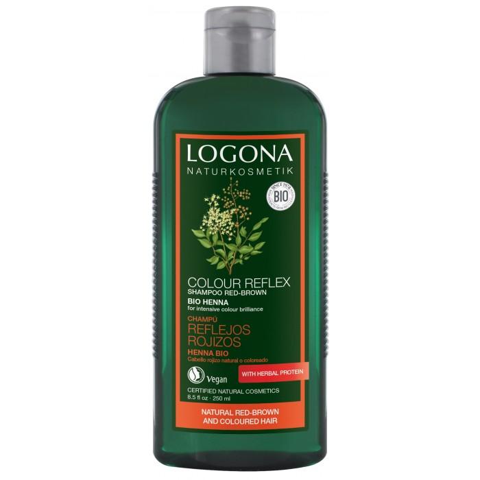 Косметика для мамы Logona Color Reflex Шампунь для рыжих и коричневых волос волос с Хной 250 мл экстракт марены красильной где