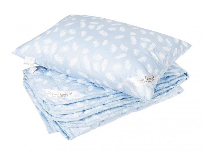 Одеяла Dream Time Лебяжий пух 100х135 и подушка 40х60 (хлопок)